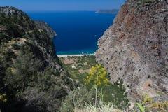 Butterfly Valley, Fethiye, Turquía Fotos de archivo libres de regalías