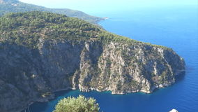 Butterfly valley high view canyon fethiye turkey stock video