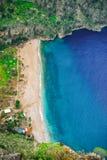 Butterfly Valley Oludeniz, Fethiye, Mugla, Turquie Mani?re de Lycian Concept d'?t? et de vacances image stock