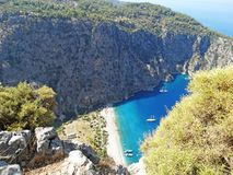 Butterfly Valley tiefer Schlucht fethiye Truthahn Stockbild
