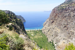 Butterfly Valley. Turkey fethiye beautiful nature scene Royalty Free Stock Photos