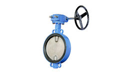 The Butterfly Valve. At warehouse butterfly valve isolated on white background Royalty Free Stock Photo