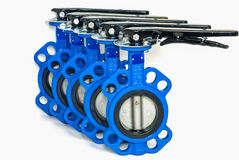 Butterfly valves Stock Photo