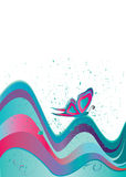 Butterfly Vector Background Stock Image