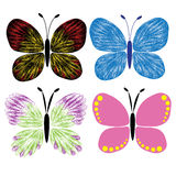 butterfly vector design cartoon illustration abstract design silhouette Stock Images