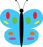 Butterfly. A vector drawing represents colorful  butterfly logo design Stock Photography
