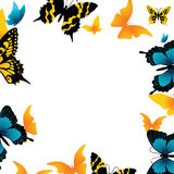 The butterfly. Vector illustration Royalty Free Stock Photos