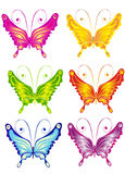 Butterfly, vector illustration Stock Photos