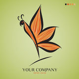 Butterfly vector illustration, logo design Royalty Free Stock Images