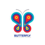 Butterfly vector logo template. Beauty salon - sign creative illustration. Abstract icon. Design element Stock Image