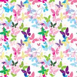 Butterfly vector pattern colorful seamless pink blue royalty free illustration