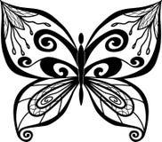 Zentangl butterfly Stock Photo
