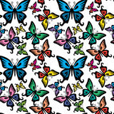 Butterfly vector seamless texture Royalty Free Stock Images