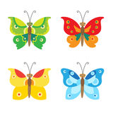 Butterfly Vector Set Icons. Set Of Simple Flying Butterfly. Vector Butterfly. Stock Images