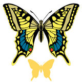 Butterfly vector  set silhouette Stock Images
