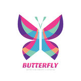 Butterfly vector sign concept illustration in flat style design. Decorative art Stock Photo