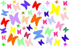 Butterfly vector texture Stock Photos