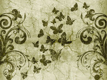 Butterfly vintage style Royalty Free Stock Images