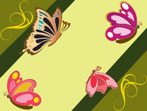Butterfly Wallpaper Royalty Free Stock Images