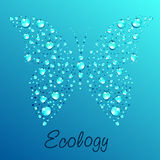 Butterfly from water drops Royalty Free Stock Photography