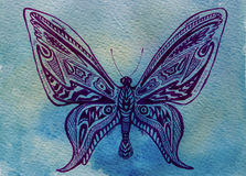 Butterfly. Watercolor Royalty Free Stock Photo