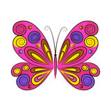 Butterfly on a white background. Vector illustration. Stock Photo