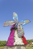 Butterfly Windmill at the Miracle Garden in Dubai Stock Images