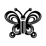Butterfly wing patterns icon, simple style Royalty Free Stock Photography