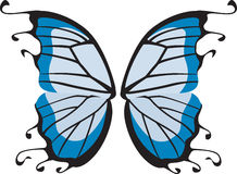 Butterfly wings. Blue butterfly or possibly fairy wings royalty free illustration