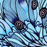 Butterfly wings background with textures and details. Macro painting details. Handdrawn illustration royalty free illustration