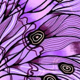Butterfly wings background with textures and details. Macro painting details vector illustration