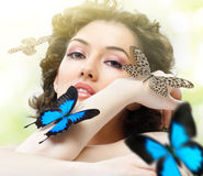 Butterfly woman Stock Image