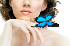 Butterfly woman Stock Images