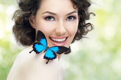Butterfly woman Royalty Free Stock Photography