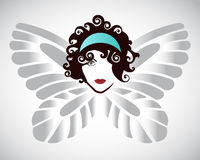 Butterfly Woman Stock Photography