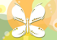 Butterfly-on-yellow-green-background Stock Photos