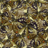 Butterfly 04 yellow. Seamless pattern from butterflies, vector illustration, clip-art Vector Illustration
