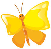 Butterfly with yellow wings Stock Photos