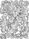 Butterfly  zentangle Royalty Free Stock Photo
