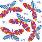 Butterflyes seamless pattern,   background design. It is l Royalty Free Stock Photography