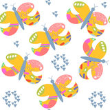 Butterflyes seamless pattern. It is located in swatch menu, vect Stock Photography