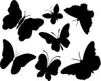 Butterflyes Set Stock Images