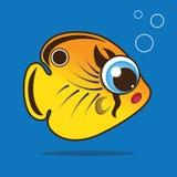 Butterflyfish cartoon Stock Image