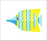 Butterflyfish flat illustration Royalty Free Stock Photo