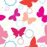 butterflys仿造无缝 图库摄影
