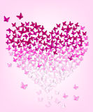 Butterflys υπό μορφή καρδιάς, eps 10 Στοκ Φωτογραφία