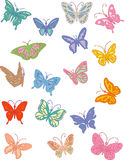 butterflys royaltyfri illustrationer
