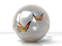 Butterflys in a bubble Royalty Free Stock Photos