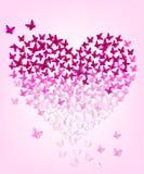 Butterflys i form av hjärta, eps 10 Arkivbild
