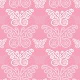 Butterflys sem emenda do laço do teste padrão ilustração do vetor